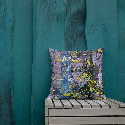Ode to Pollock Abstract painting by Ashvin | Premium Pillow