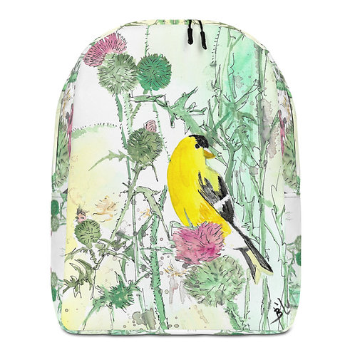 Goldfinch Water-colour by B'lu | Minimalist Backpack