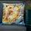 Thumbnail: Sunflowers Oil Painting by B'lu | Premium Pillow Case