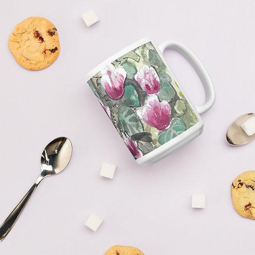 Cyclamen Floral Mug