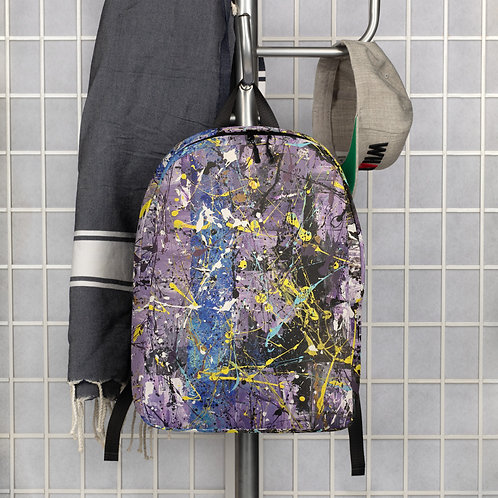 Ode to Pollock abstract design Minimalist Backpack