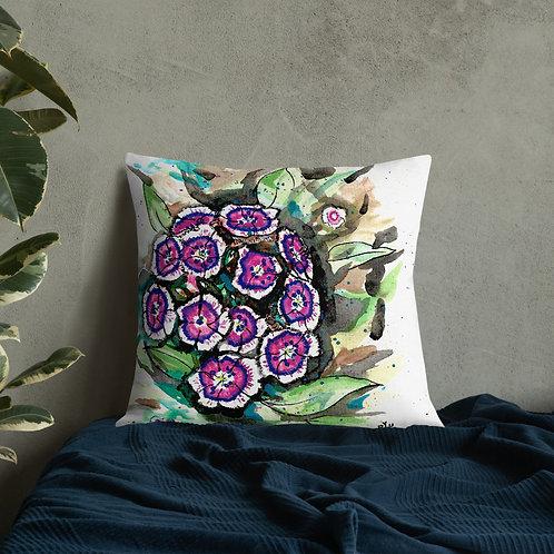 Dianthus Water-Colour by B'lu | Premium Pillow