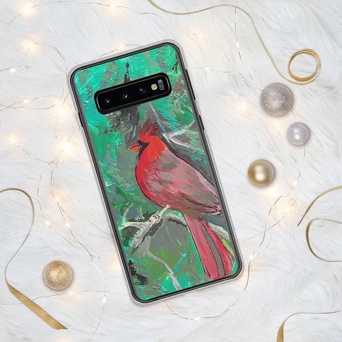 Cardinal Acrylic painting by B'lu | Samsung Case