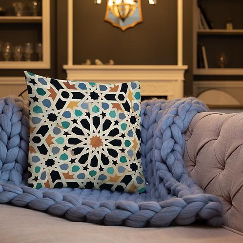 Morocco mosaic design by Rageshree | Premium Pillow Case