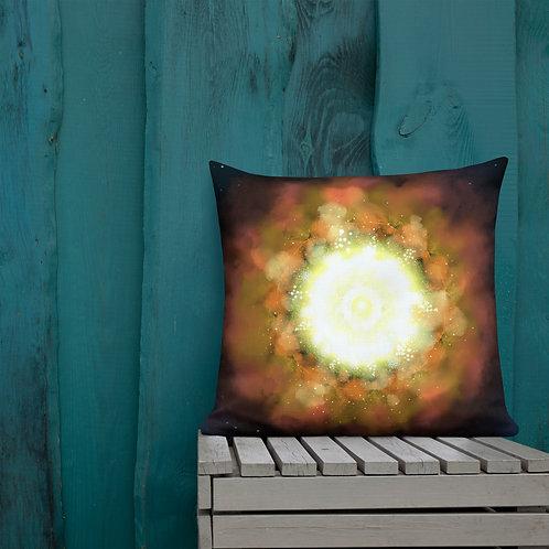 Supernova Digital Painting by Ashvin | Premium Pillow