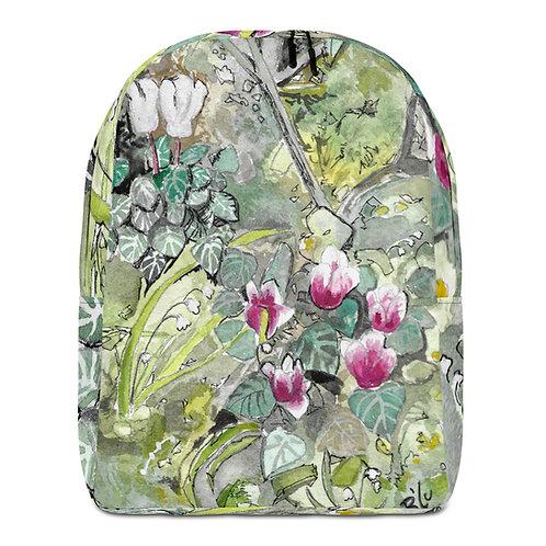 Cyclamen Water-colour by B'lu | Minimalist Backpack
