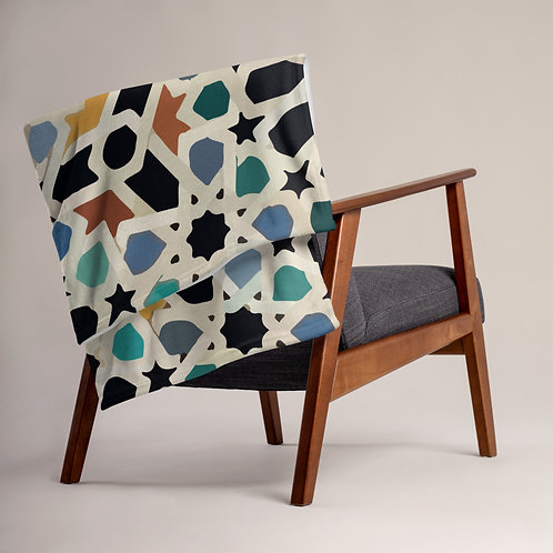 Morocco Mosaic design by Rageshree Throw Blanket