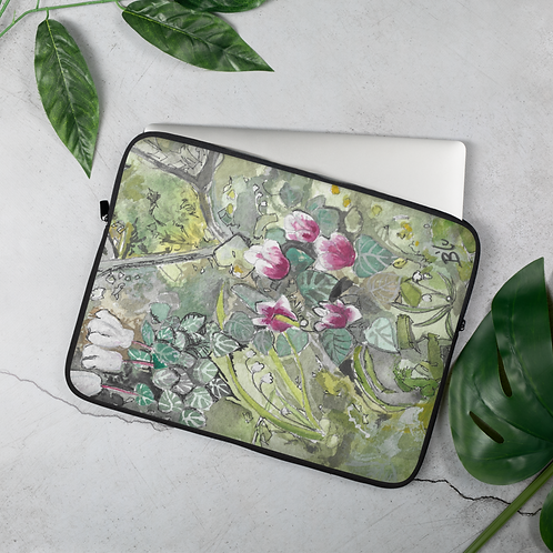 Cyclamen Floral Laptop Sleeve