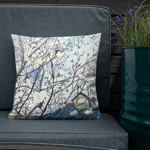 Magnolias Water-colour by B'lu   Premium Pillow