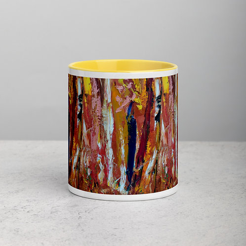 Autumn Forest Mug with Color Inside