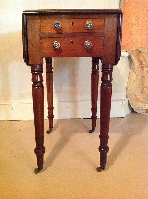 Victorian (c1850) Mahogany Work, Lamp Table