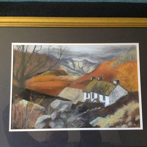 """Alone in the Lake District"" Pastel"