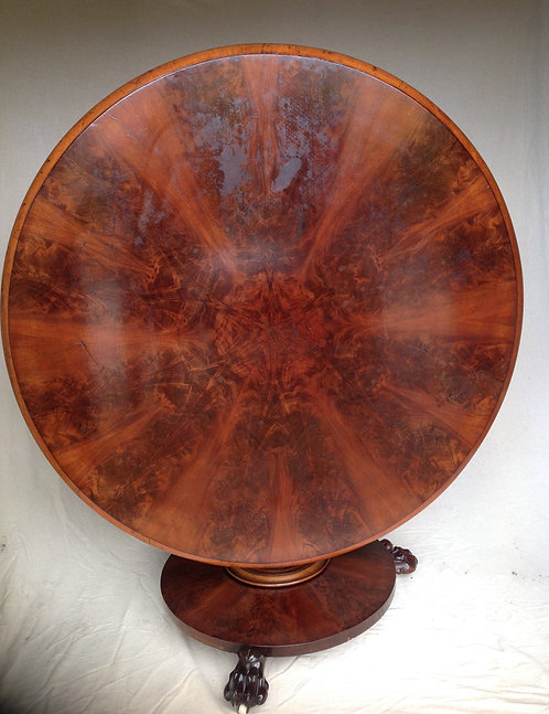 Victorian (c1880) Mahogany Tilt Top Round Table