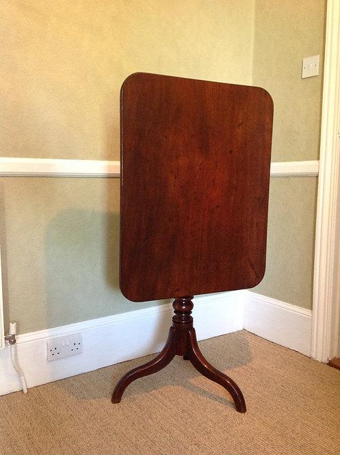 George III (c 1780) Mahogany Birdcage Top Table