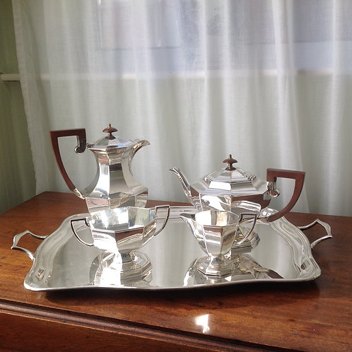 Antique A E Poston & Co LTD Silver Plated Tea Set