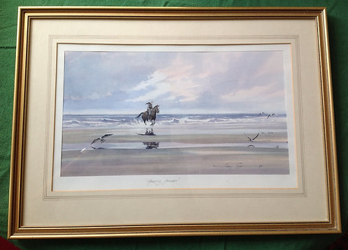 """Harry Clow (1941-2004)Watercolour """"Morning Gallop"""""""