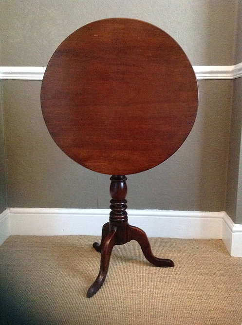 George III (c 1760) Mahogany Wine Round Table