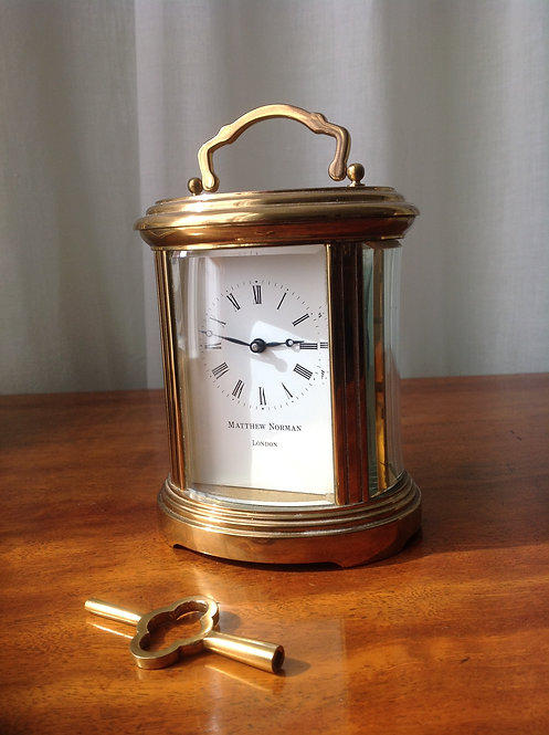 Antique Matthew Norman Brass Carriage Clock