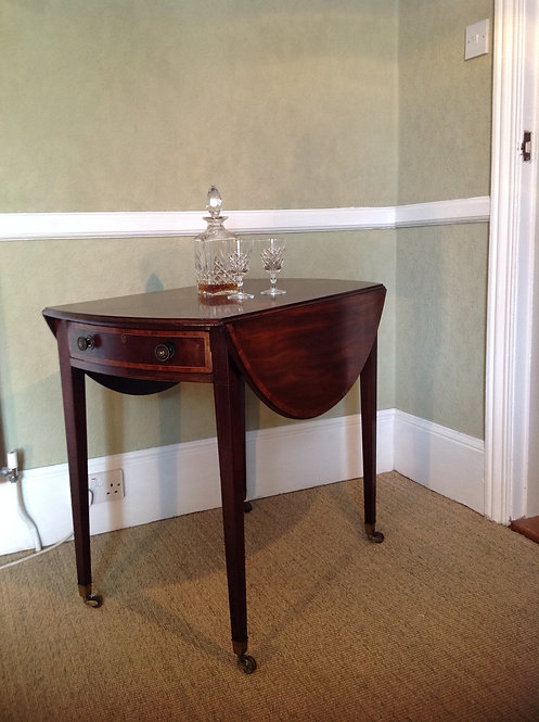George III (c 1770) Mahogany Pembroke Oval Table