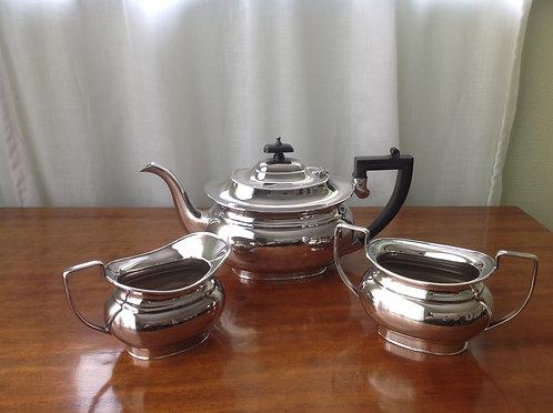Spear & Jackson (Sheffield 1940) Silver Plated 3 piece tea set