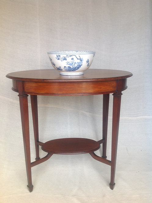 Edwardian Oval Mahogany Occasional Table