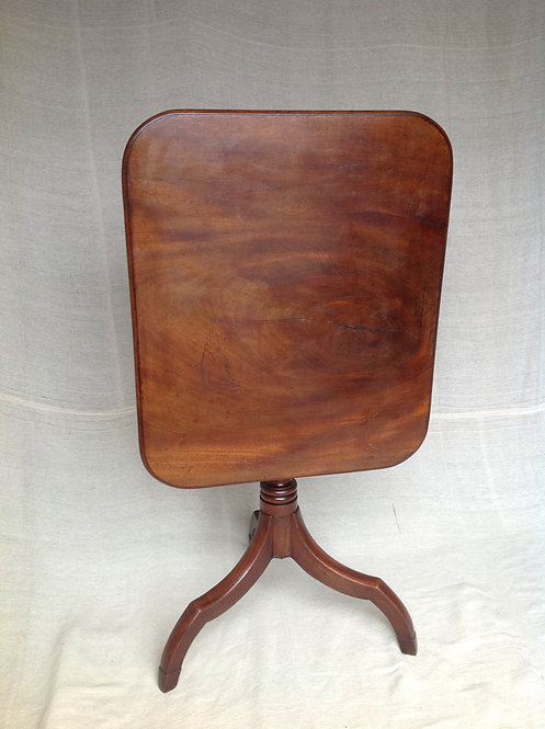 Fine George III (c1790) Tripod Mahogany Wine Table