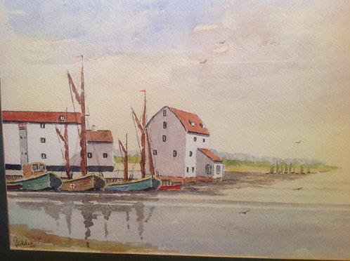 The Tide Mill at Woodbridge Watercolour by Paddie
