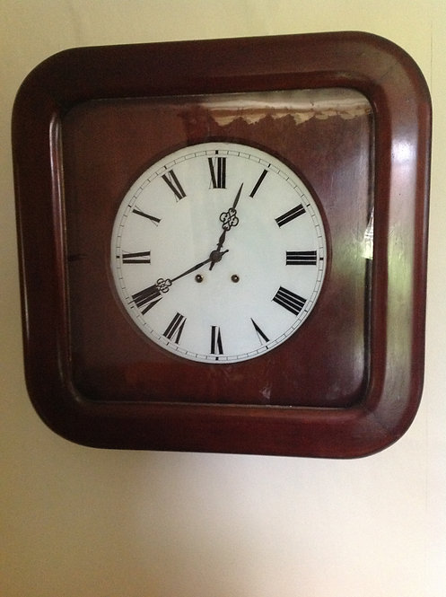 Late Victorian Mahogany Pendulum 8 Day Wall Clock
