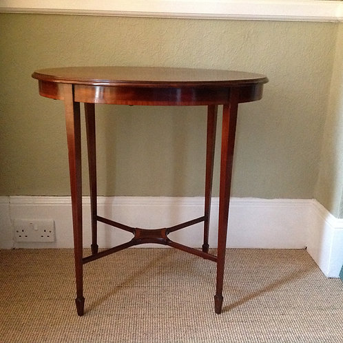 Edwardian Oval Sheraton Revival Mahogany Table