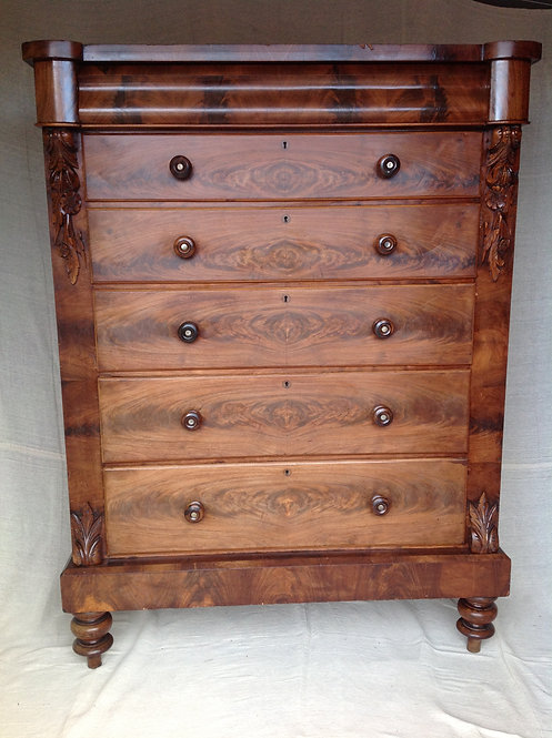 Tall Victorian (c1850) Scottish Chest of Drawers