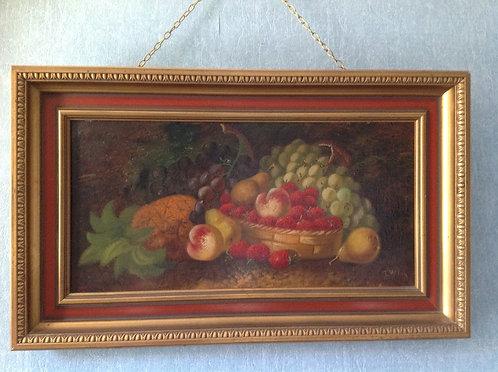 """T. Wilson 19th C artist """"Still Life Fruit"""""""