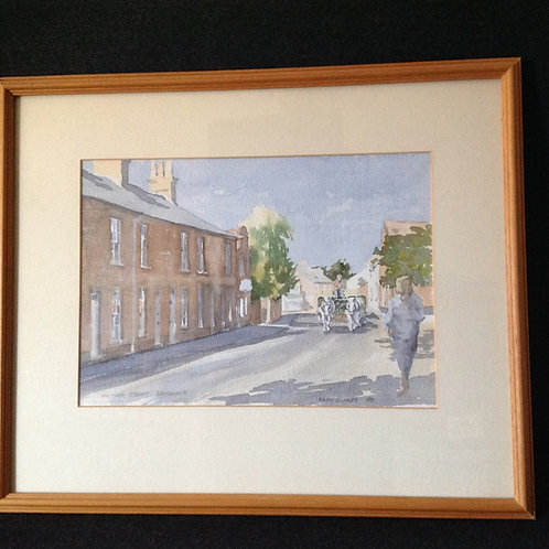 "M.Gundry ""Victoria Street, Southwold"", Watercolour"