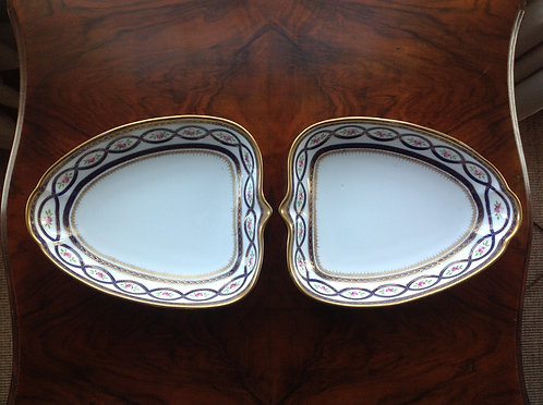 Pair of Heart Shaped Wedgwood Porcelain Dishes