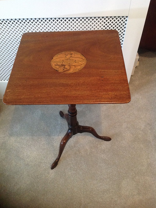 Georgian (c 1790) Mahogany Inlaid Tripod Table