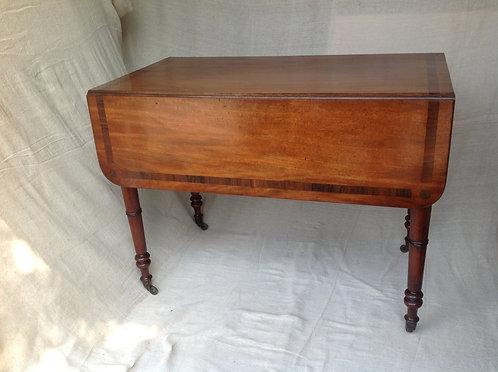George III Rosewood Cross Banded Pembroke Table