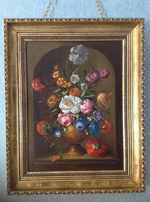"""F.Oskar Knapp (1914-1987 ) """"Still Life Flowers"""""""