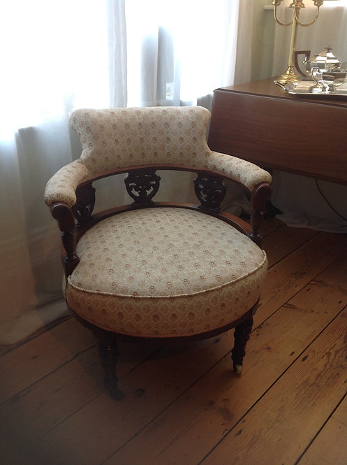 Victorian (c 1840) Carved Mahogany Tub Chair
