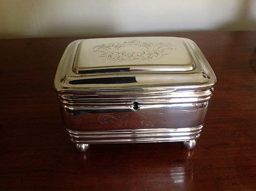 19th C Polish Warsaw Fraget Silver Plated Box