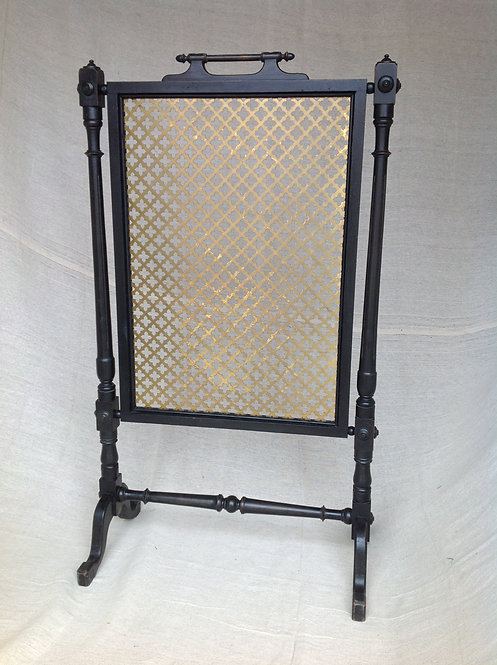 1880 Aesthetic Movement Style Ebonised Fire Screen