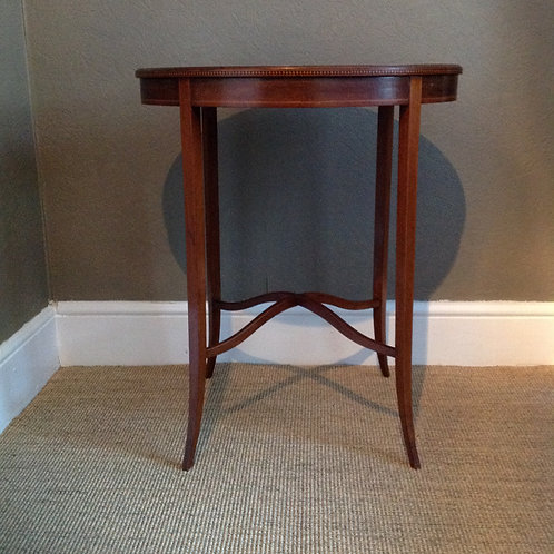 Antique Edwardian Oval Mahogany Occasional Table