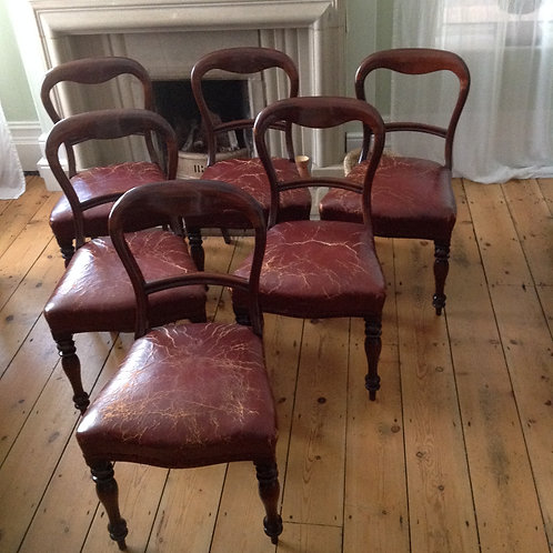 Victorian (c 1880) Set of Six Mahogany Chairs