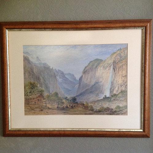 "George Barnard 1815- 1890 ""Lauterbrunnen Valley"""