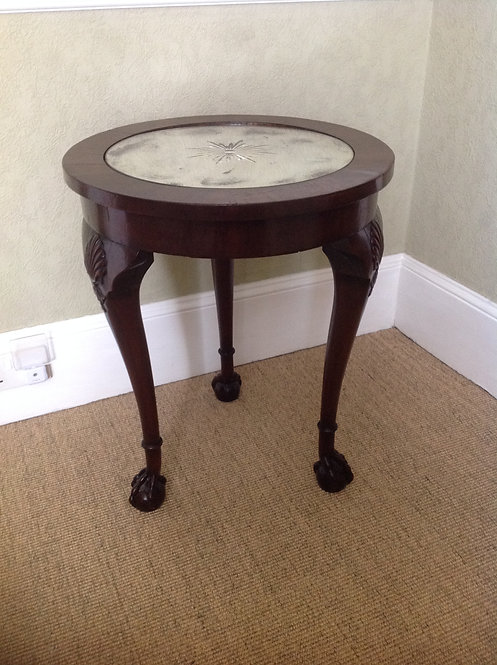 Antique Victorian Mahogany Mirror Lamp Table
