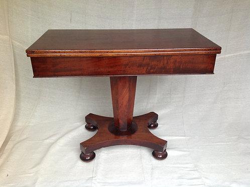 19th Century mahogany foldover card/tea table