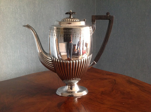 Antique George III Style Silver Plated Coffee Pot