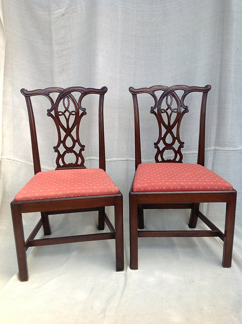 Edwardian Hall Chairs in the Chippendale Style