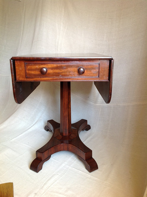 Regency Flame Mahogany Sofa Hall Lamp Table