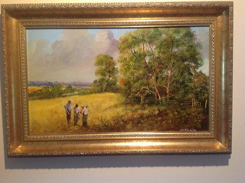 Rural landscape Oil on Board by G.E. Williams