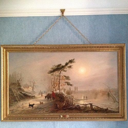"""Thomas Smythe (1825-1906) """"Winter Landscape"""""""
