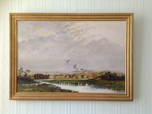 "Noel Dudley ""Widgeon Rising from the Marsh"""